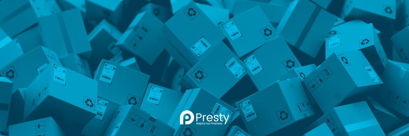 cajas paqueteria presty